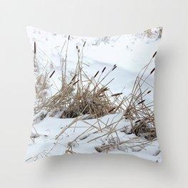 Cattails 8 Throw Pillow