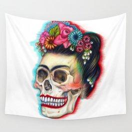 Frida's Skull Wall Tapestry