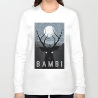 bambi Long Sleeve T-shirts featuring Bambi by Rowan Stocks-Moore