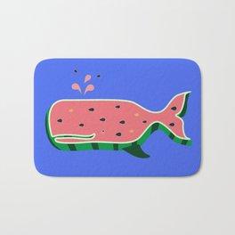 Watermelon whale Bath Mat