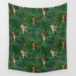 Mermaids in an Underwater Garden Wall Tapestry