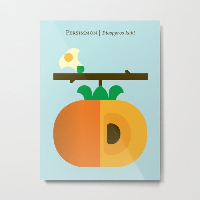 Fruit: Persimmon Metal Print