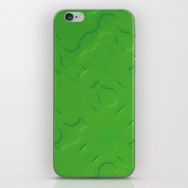 Green Embossing iPhone Skin