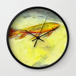 Small Koi Pond 24 Wall Clock