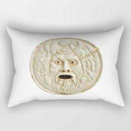 bocca della verita mouth of true statue legend Rectangular Pillow