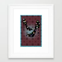 heels Framed Art Prints featuring Heels by Design Treasures