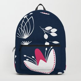 Woodland Flowers Pink Backpack