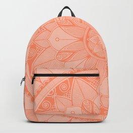 Peach Mandala 4 Backpack