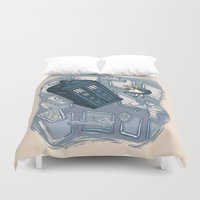 hallion Duvet Covers featuring Falling by Karen Hallion Illustrations