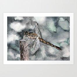 dragonfly art print Art Print