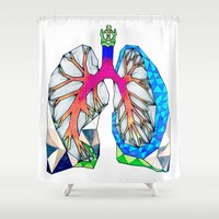 lungs Shower Curtains featuring Lungs by Heidi Failmezger