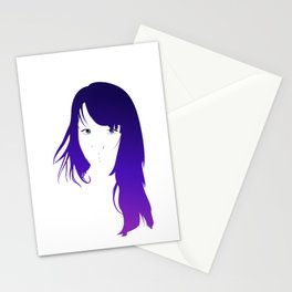 Purple Vector Stationery Cards