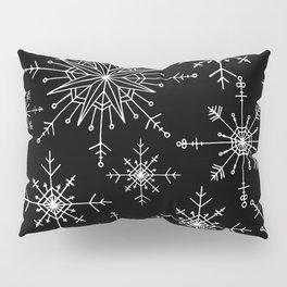 Winter Wonderland Snowflakes Black and White Pillow Sham