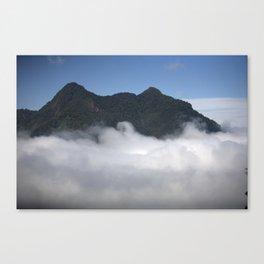 Cloudy Mountain Canvas Print