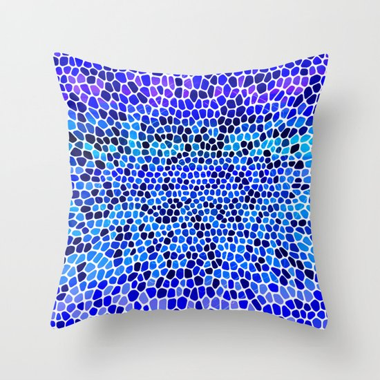 THINK BLUE Throw Pillow