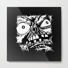 Flattened Monster Face Metal Print