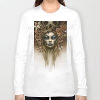 dia de los muertos Long Sleeve T-shirts featuring Dia de los Muertos by Marc Potts