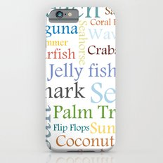 Beach Theme Slim Case iPhone 6s