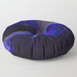 Dark Purple Blue Galaxy - Midnight Shades Floor Pillow