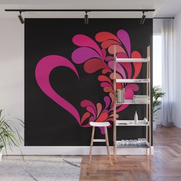 Colored heart Wall Mural