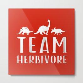 Dinorsaurs Team Herbivore Metal Print