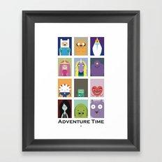 Minimalist Adventure Time Poster Framed Art Print