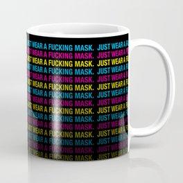 Just Wear A F*cking Mask in CMYK Coffee Mug
