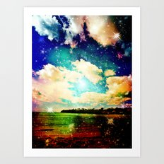 Far Out Beach Art Print