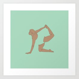 Yoga Practice — Bow from all Fours. Art Print
