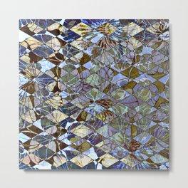 Diamond Floral Pattern Metal Print