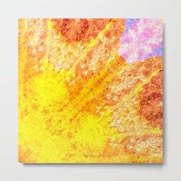 Autumn Sun Light Metal Print