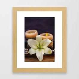 candels Framed Art Print