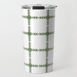 Arrows Grid Pattern - Kale Travel Mug
