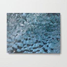Iceberg Dimples Metal Print