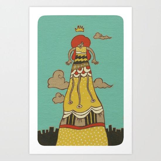 The Long Dress Art Print