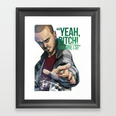 Yeah, B! magnets! Framed Art Print