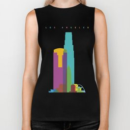 Shapes of Los Angeles accurate to scale Biker Tank