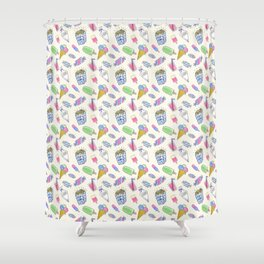 Popart candy and ice-cream Shower Curtain