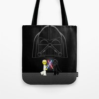 dark side Tote Bags featuring Dark Side by AWOwens