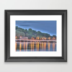 The Bridge over the Quay at Dusk Framed Art Print