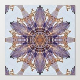 Passion Flower Mandala Canvas Print