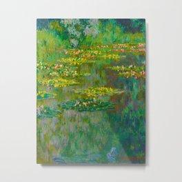 Claude Monet Impressionist Landscape Oil Painting Le Bassin des Nympheas Metal Print