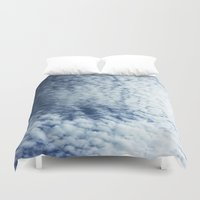 neverland Duvet Covers featuring Neverland Clouds by GIZIBE
