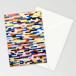 Building Blocks Pattern Multicolor  Stationery Cards