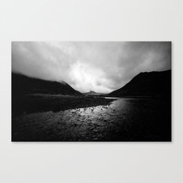 Dusk Valley Mist Canvas Print