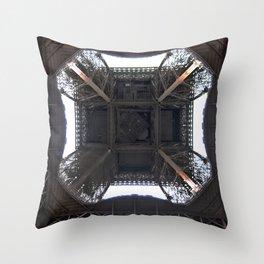 Under Eiffel HDR Throw Pillow