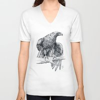 falcon V-neck T-shirts featuring Falcon illustration by Thubakabra