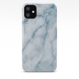 Light blue marble texture iPhone Case