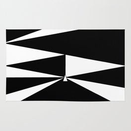 Triangles in Black and White Rug