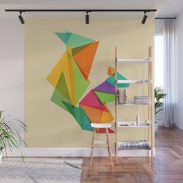 Fractal geometric Squirrel Wall Mural
